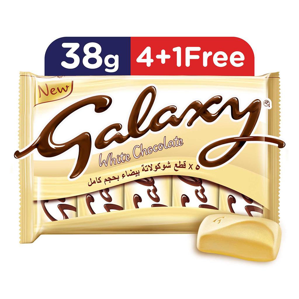 Galaxy White Chocolate 38g Multipack 5pcs X24