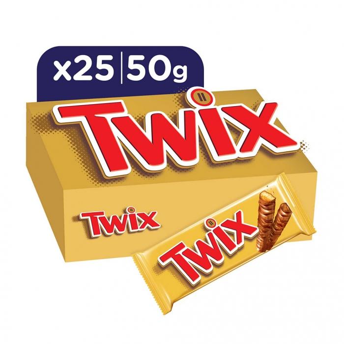 Twix® Chocolate Bar 50g x25